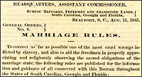 Freedmen's Bureau Marriage Rules