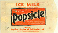 Popsicle ice milk wrapper
