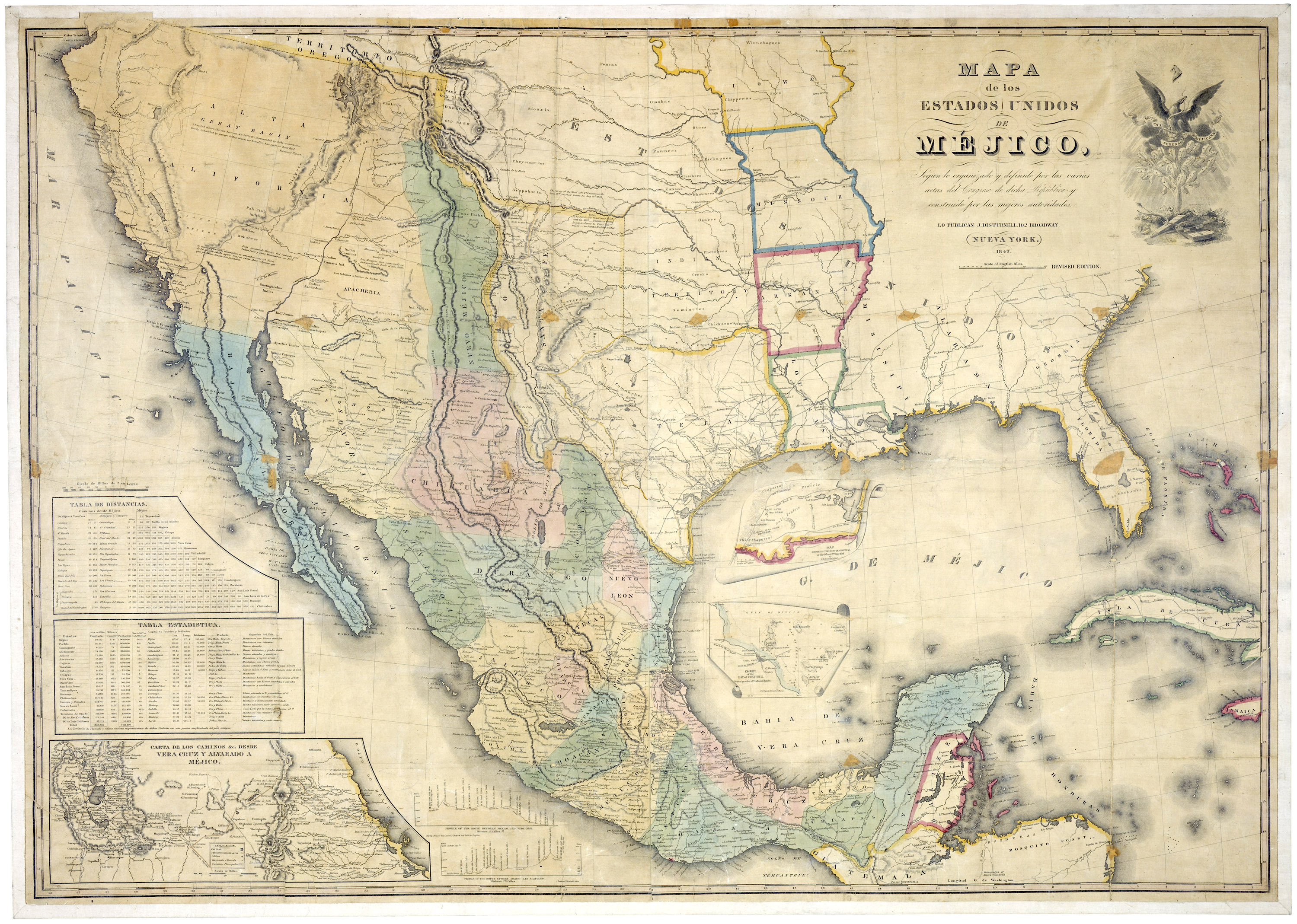 Disturnell Map Of U S Mexico Border