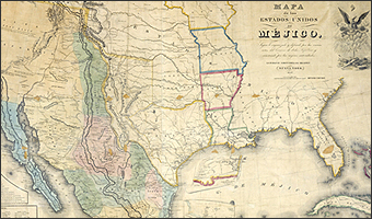 Monuments Manifest Destiny And Mexico National Archives - Mexico and us map
