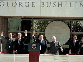 Opening of the Bush Library in College Station, TX