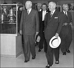 Truman and Hoover at the dedication of the Truman Library