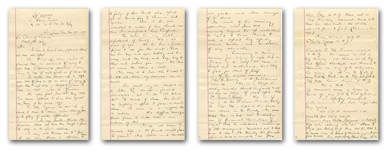 Thumbnail images of four documents