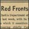 detail of newspaper clipping headline