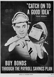 Yogi Berra poster to sell bonds