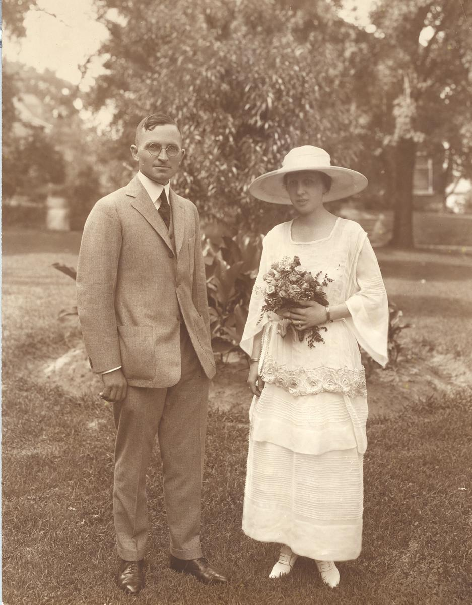 Harry and Bess Truman on their wedding day