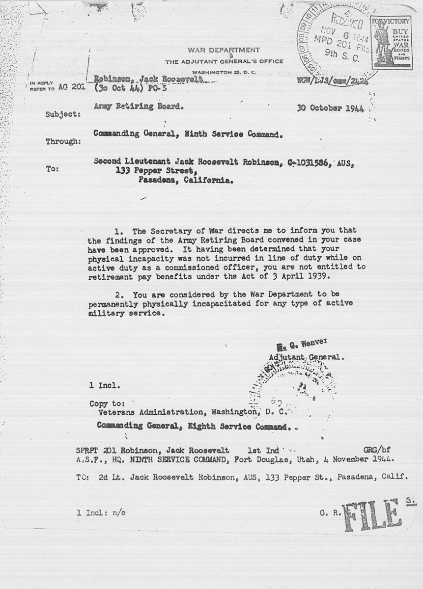Robinson's request for exemption from active military service