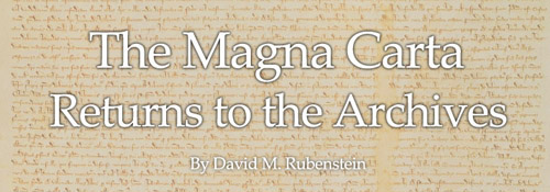 The Magna Carta Returns to the National Archives