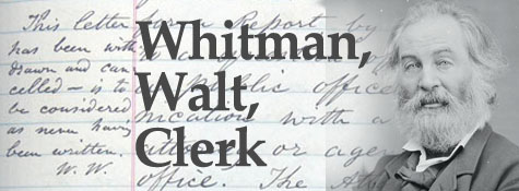 Walt Whitman documents in the Archives
