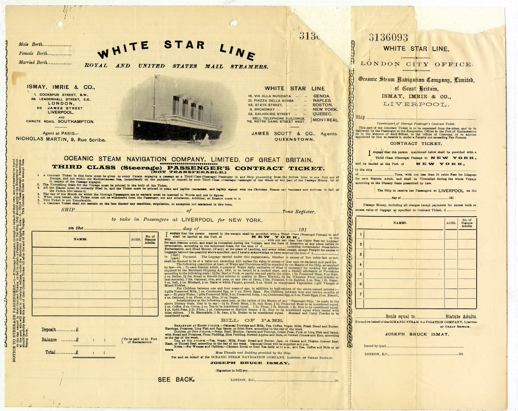 Sample Essay Thesis A Thirdclass Steerage Passenger S Contract Ticket For The White Star  Line Similar To Those Used On The Titanic Records Of District Courts Of  The  Essay On Paper also High School Sample Essay They Said It Couldnt Sink  National Archives Apa Format Essay Paper
