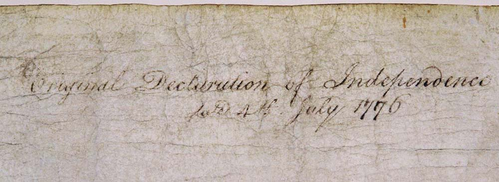 The Declaration Of Independence And The Hand Of Time National Archives