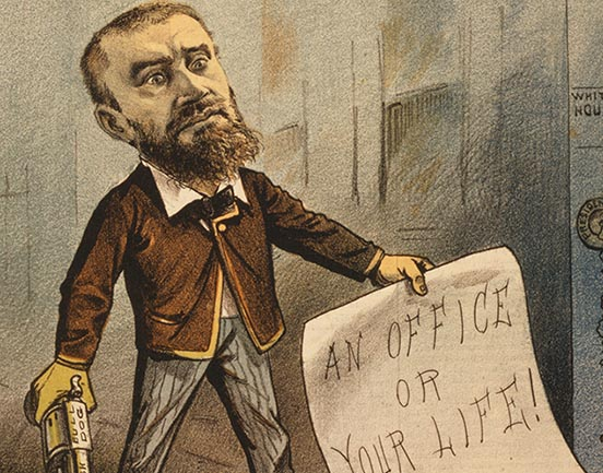 Charles Guiteau - cartoon from Puck Magazine