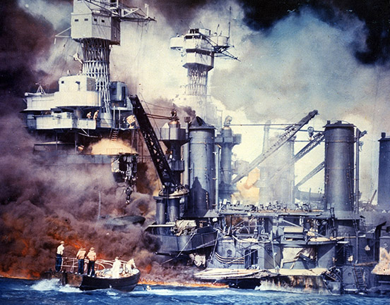 The USS West Virginia at Pearl Harbor 1941