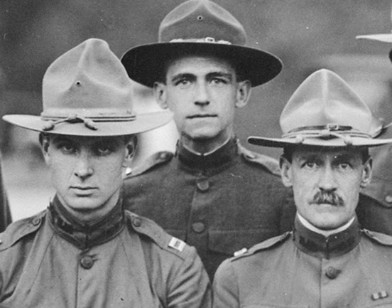 Officers of Morristown, NJ, Infantry Battalion, 1918