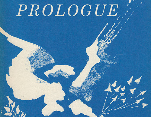 Spring 1969 cover of Prologue magazine