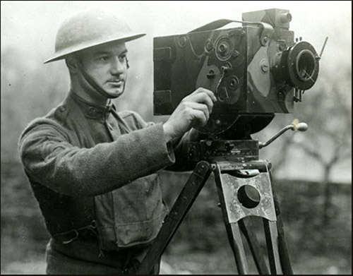 World War I motion picture camera man