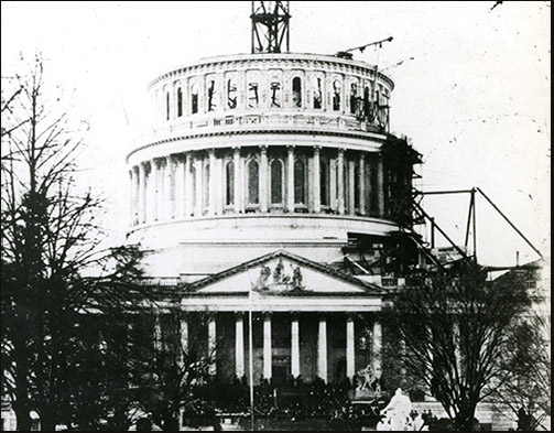 U.S. Capitol under construction
