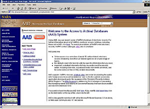 AAD welcome page