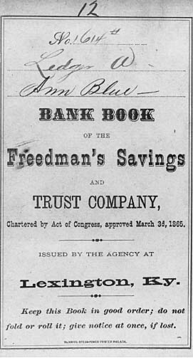 The Freedman's Savings and Trust Company and African