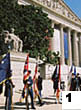 Color Guard outside NA Building