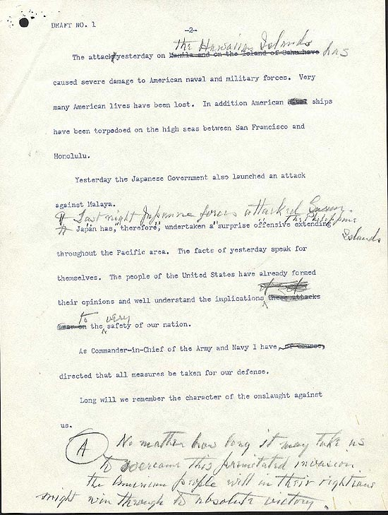 "FDR's ""Day of Infamy"" Speech 