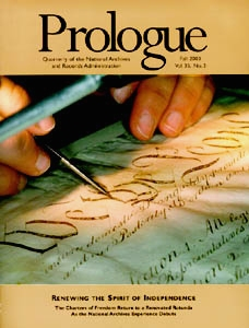 Fall 2003 Prologue Cover