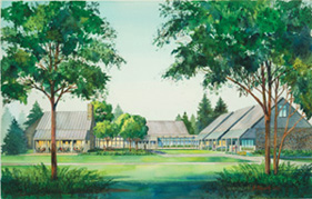 Artist's rendition of new FDR visitors center
