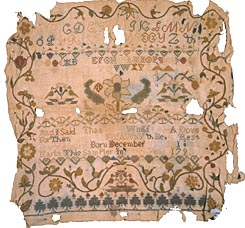 Mary Hearn's sampler