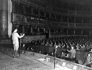Irving Berlin at San Carlo Opera House, Naples, Italy