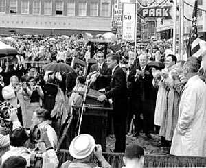 JFK speech in parking lot