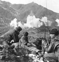 Korean War artillery