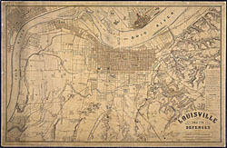 Louisville, KY, map 1865