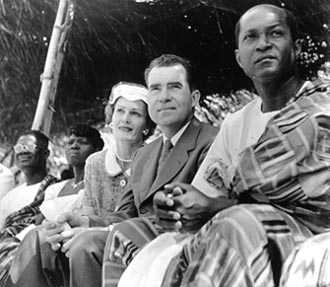 Vice President and Mrs. Nixon in Ghana, 1957