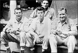 JFK and 3 colleagues on Solomon Islands