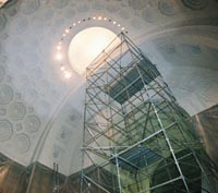 Rotunda dome during painting