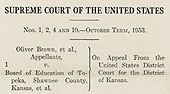 Detail of Brown Supreme Court decision page 1