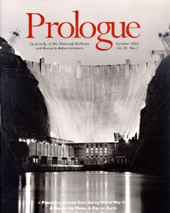 Summer 2003 Prologue Cover