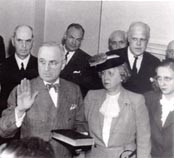 Harry Truman being sworn in