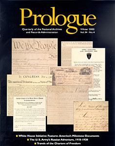 Winter 2002 Prologue Cover