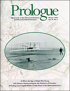 Winter 2003 Prologue Cover