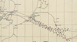 World War II bomb tracking chart