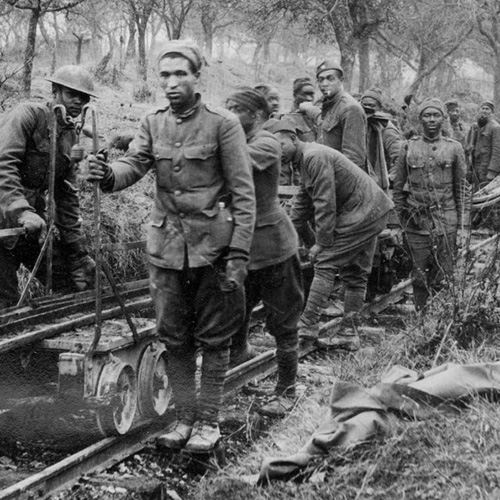 Black soldiers of the 93rd Division, World War I
