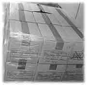 shrink wrapped boxes