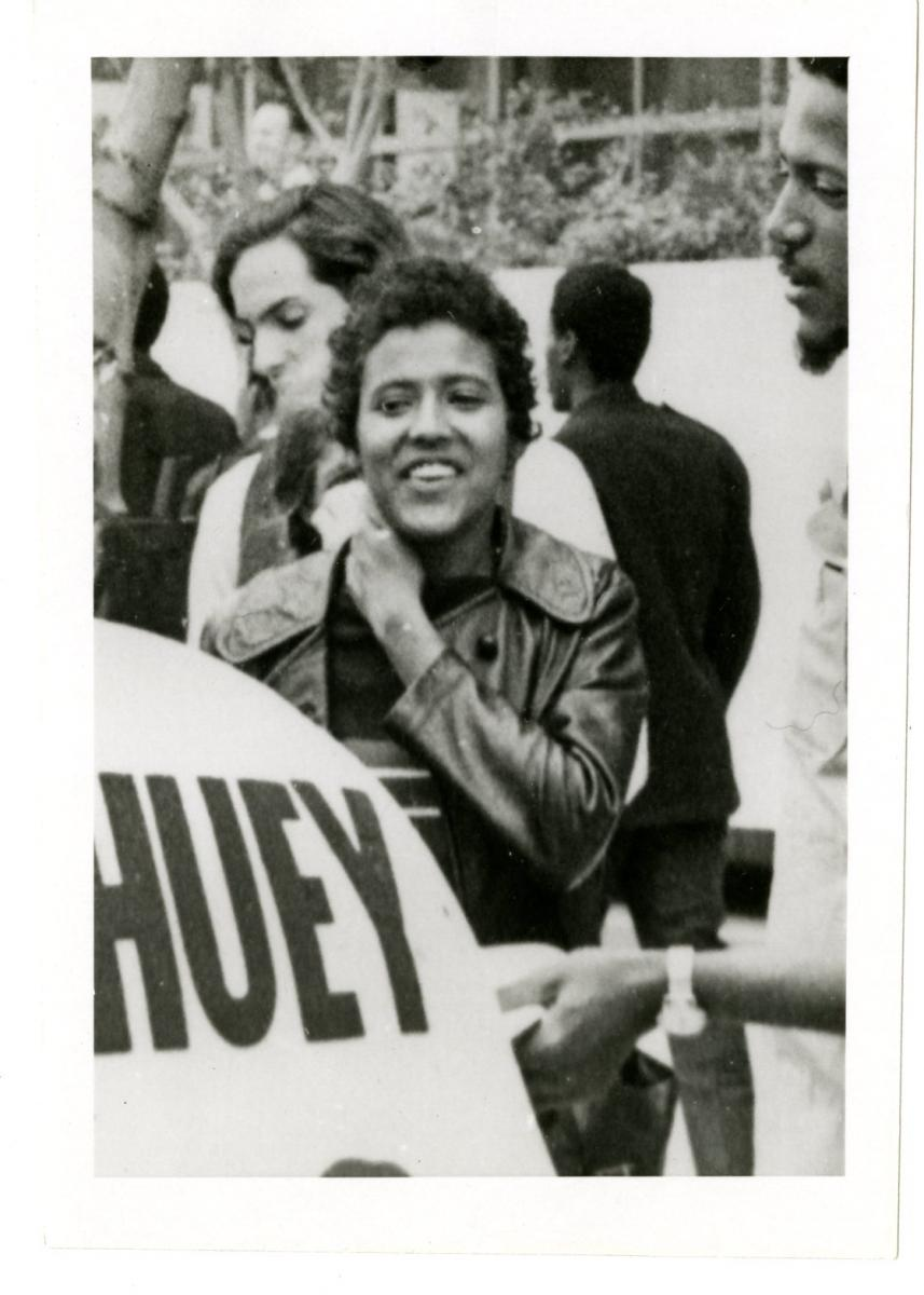 Elaine Brown at a Free Huey rally