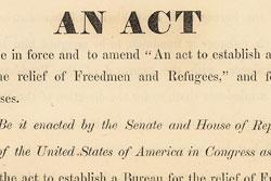 Freedmens Bureau bills