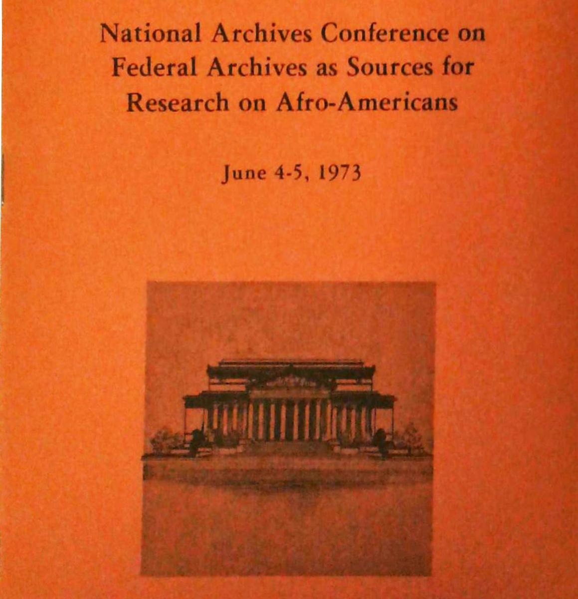 African American History Conference program