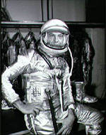 Alan Shepard in pressure suit