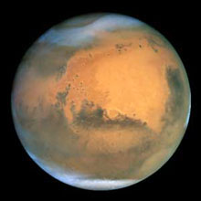 Picture of Mars taken by Hubble Space Telescope