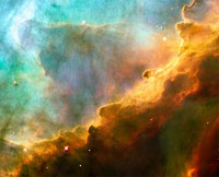 storm of turbuent gases taken by Hubble