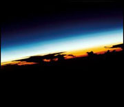 sunrise from Space Shuttle Endeavor Mission STS-068